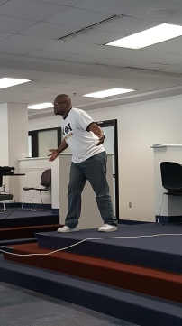 """Rayshawn L. Wilson, LionHeart was the afternoon's featured speaker; he spoke about """"The Four Chambers of the Heart."""""""