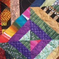A sample quilt donated by My Very Own Blanket; each Scholar received a twin-sized quilt and pillow-case!